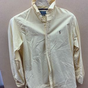 Polo Yellow Button Down (M)